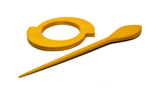 Shawl Pin - Yellow Double Circle
