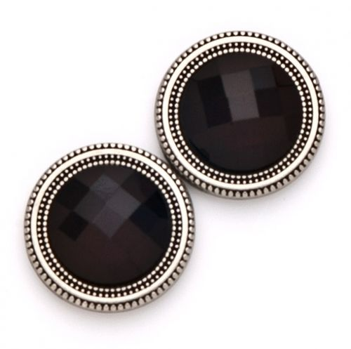 Magnetic Button Set - Black Crystal