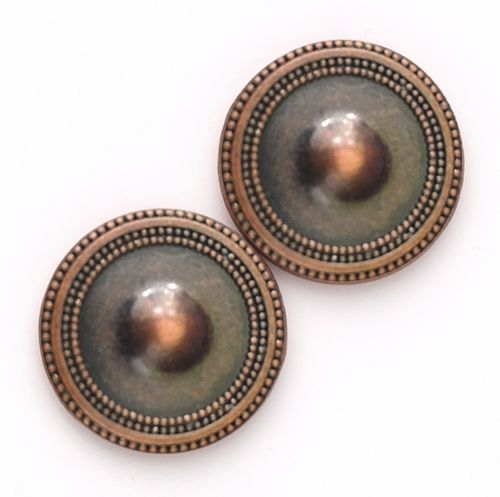 Magnetic Button Set - Bronze Antique