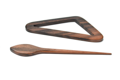 Shawl Pin - Wood Triangle 2