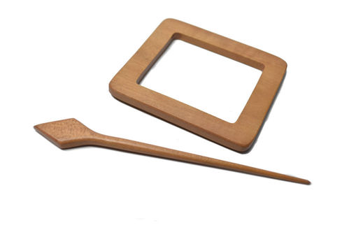 Shawl Pin - Wood Rectangle
