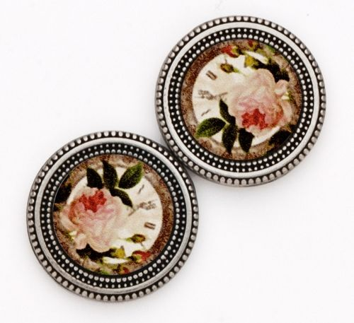 Magnetic Button Set - Vintage Rose Prints
