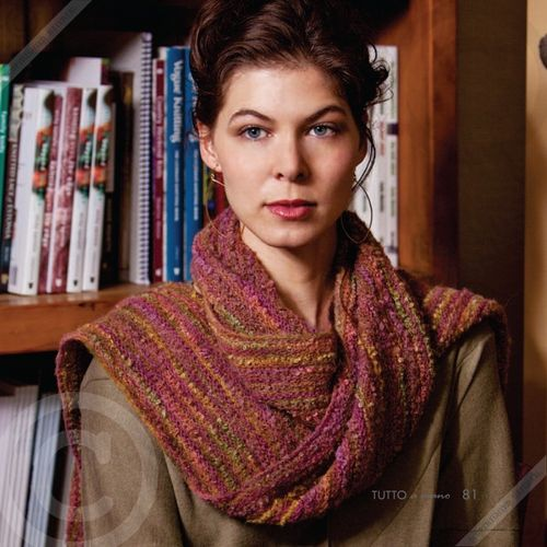 Hand Dyed Scarf Kit - Mountain Mahogany Colorway