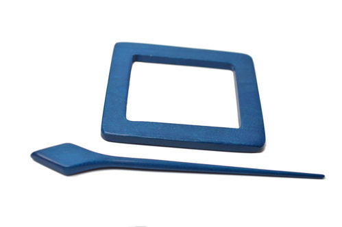 Shawl Pin - Blue Rectangle