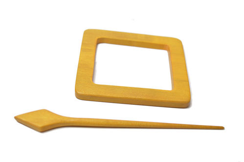Shawl Pin - Yellow Rectangle