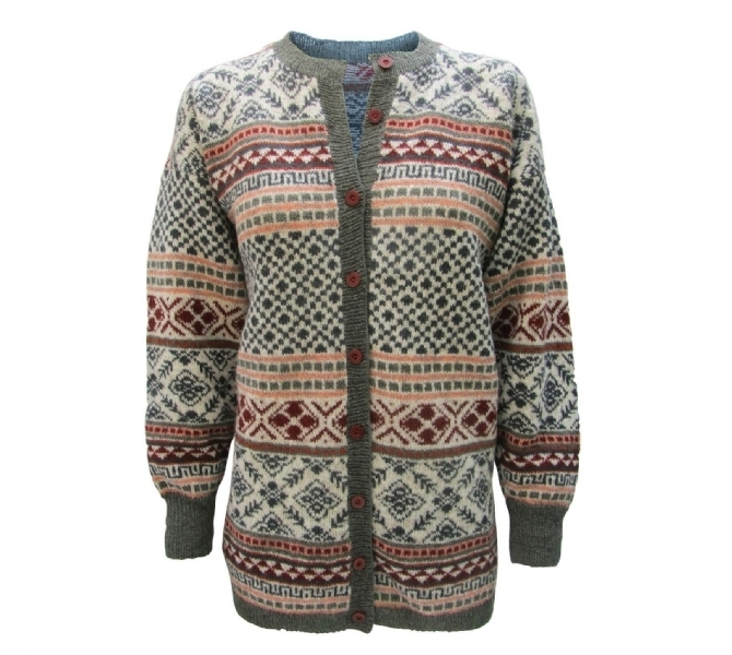 Fair Isle Cardigan Pattern Printed Tutto Isager