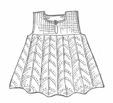 April Baby Dress Pattern Printed